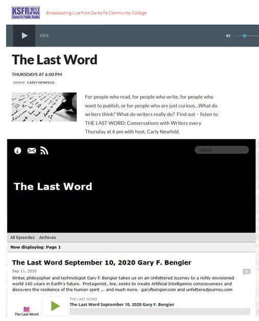 Carly Newfeld The Last Word Interview 2020909