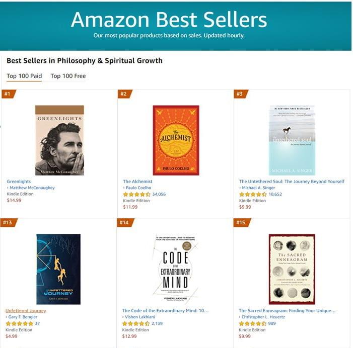 #13 Best Seller in Philosophy & Spiritual Growth