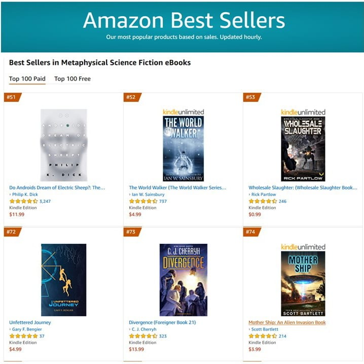 #72 Best Seller in Metaphysical Science Fiction