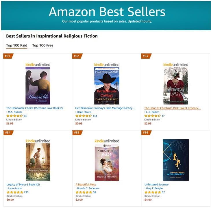 #86 Best Seller in Inspirational Religious Fiction
