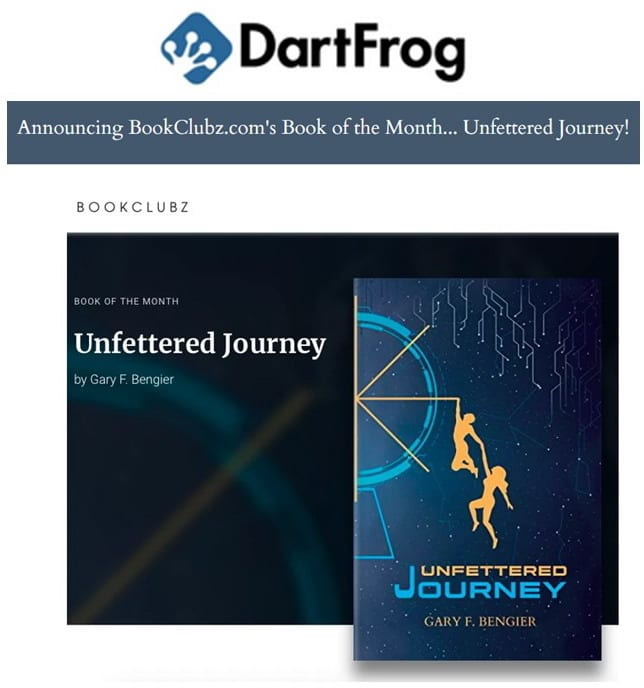 Dartfrog announcing BookClubz Book of the Month 20201101