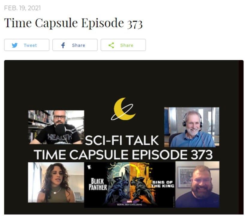 SciFi Talk Podcast with Tony Tellado 20210210